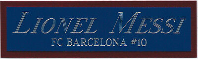 AU11.61 • Buy LIONEL MESSI NAMEPLATE FOR AUTOGRAPHED Signed SOCCER BALL-FOOTBALL-JERSEY-PHOTO