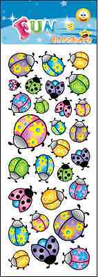 Fantastic Fun Stickers   Cute Ladybirds   For Cards & Craft • 0.99£