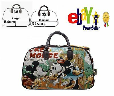 Mickey Mouse Trolley Holdall Bag Girls Minnie Mouse Hand Luggage Travel Handbag • 19.99£