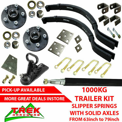 AU229 • Buy DIY SINGLE AXLE TRAILER KIT. 1000KG Slipper Springs 63-79 Trailer DIY Kit Box