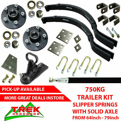 AU184 • Buy DIY SINGLE AXLE TRAILER KIT. 750KG Slipper Springs Trailer DIY Kit Box
