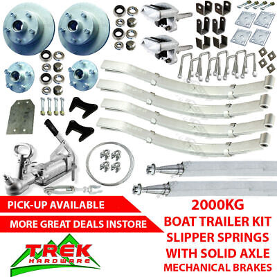 AU890 • Buy 2000KG Rated Tandem Solid Axle Kit Boat Trailer Slipper Springs Mechanical Disc
