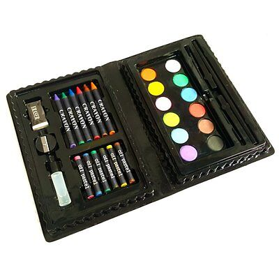 Childrens Art Set Including Water Colours, Oil Pastels, Crayons, Pencil & More • 6.99£