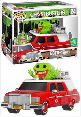 Sce Exclusive Red Ecto-1 With Slimer Pop Vinyl Figure Pop Rides 24 Brand New • 59.99£