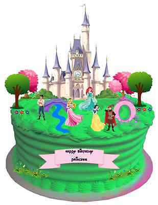 £4.50 • Buy DISNEY PRINCESS WAFER CARD CAKE SCENE EDIBLE BIRTHDAY PARTY STAND UPS (uncut)