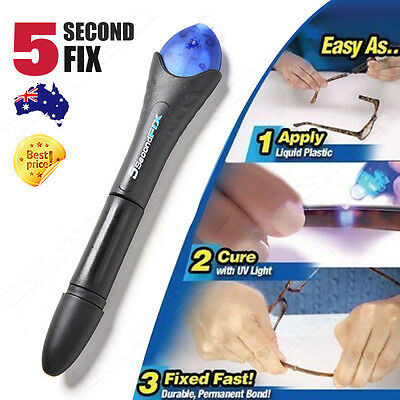 AU11.98 • Buy Quick Fix 5 Second UV Light Liquid Plastic Welding Compound Glue Repair Tool
