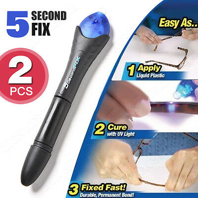 AU12.83 • Buy X2 Quick Fix 5 Second UV Light Liquid Plastic Welding Compound Glue Repair Tool