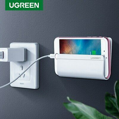 UGREEN Universal Wall Stand Mount Phone Charger Holder For IPhone Samsung Tablet • 3.21£