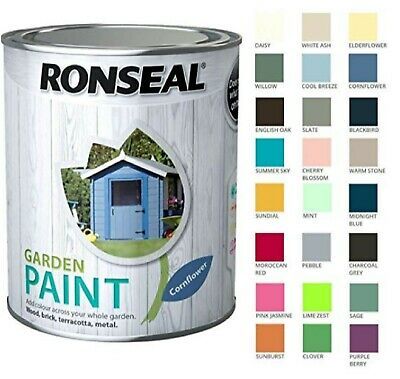 Ronseal Garden Paint 250ml / 750ml / 2.5l All Colours FREE DELIVERY • 8.99£
