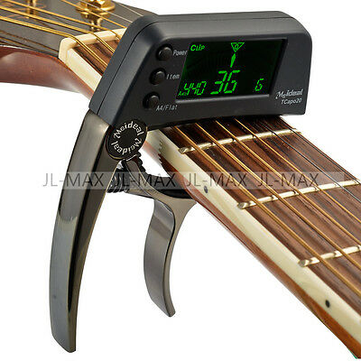 $ CDN15.99 • Buy TCapo20 Guitar Bass Clip On Tuner Quick Change Trigger Capo Clamp