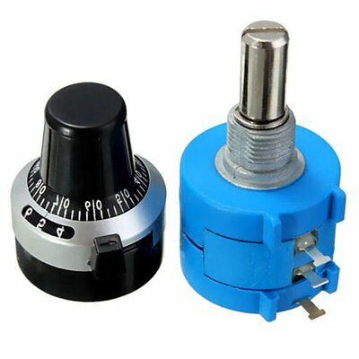 $ CDN3.69 • Buy 5K Ohm With Turn Counting Dial Rotary Potentiometer Pot 10 Turn 3590S-2-502L