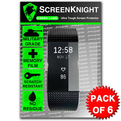 $ CDN7 • Buy Screen Protector - For Fitbit Charge 2/ii - Pack Of 6 - Screenknight