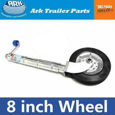 AU63.14 • Buy Ark 8  Trailer Jockey Wheel Clamp-on Style 350kg Rate 250mm Solid Rubber JWN8
