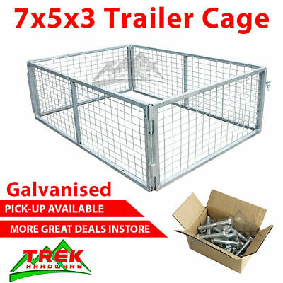 AU396 • Buy Trailer Cage 7x5x3. Fully Galvanised. Box Tubing. Smart Lock In System.