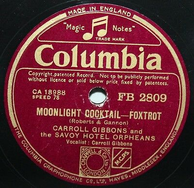 £9.99 • Buy 10  78 - Carroll Gibbons & Savoy Hotel Orpheans - Moonlight Cocktail - Columbia
