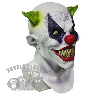Latex Halloween 'Franco The Silly Grin Clown' Costumes Props Scary Horror Mask • 28.99£