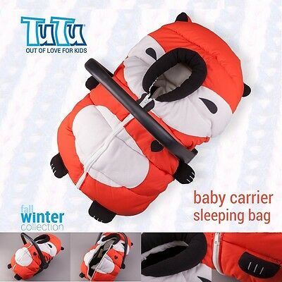 FOOTMUFF HOOD Warm Cover Sleeping Bag For Baby Infant Car Seat Carrier FOX • 24.97£