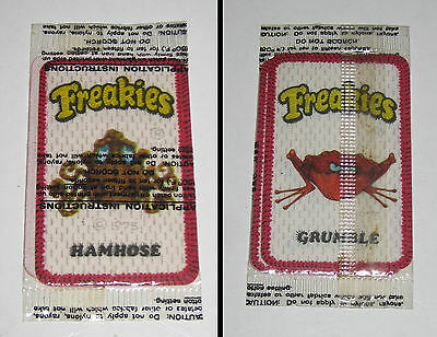 NEW Sealed 2x Vintage Freakies Cereal Prize 1975 Iron-On Patches HAMHOSE GRUMBLE • 32.45$