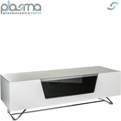 Alphason Chromium White 1200 TV Stand For Up To 60  TVs • 204.99£