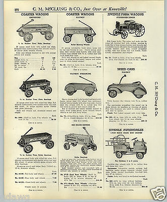 $14.99 • Buy 1937 PAPER AD Playboy Coaster Wagon Speed Car Irish Mail Steelcraft Scooter