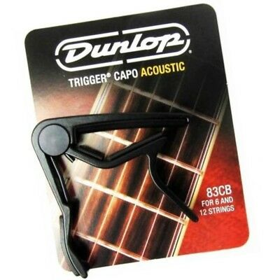 $ CDN40.43 • Buy Dunlop 83CB Trigger Guitar Capo For Acoustic 6 & 12 String Guitars Curved Black