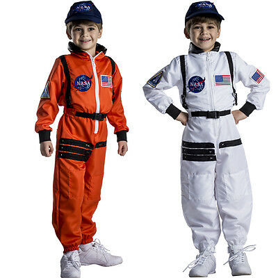 $29.95 • Buy Astronaut Costume For Kids – NASA Orange/White Space Suit By Dress Up America