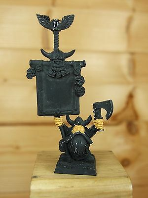 Classic Metal Dwarf Bugmans Rangers Brewers Standard Bearer Base Painted (2484) • 9£