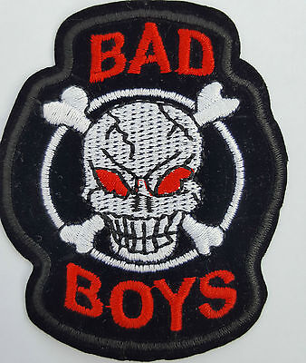 £2.59 • Buy Bad Boys Skull And Crossbones Iron On Badge Transfer Iron On Patch