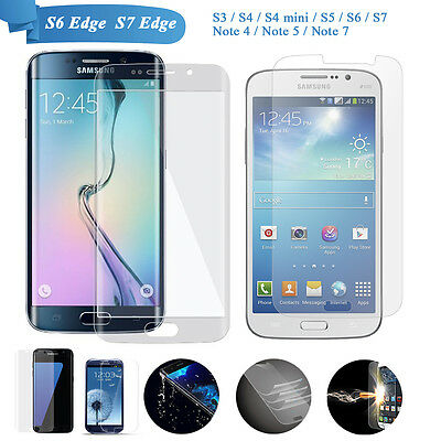 AU2.97 • Buy Galaxy S8 Plus/S6 / S7 Edge S5 S4Tempered Glass Screen Protector For Samsung