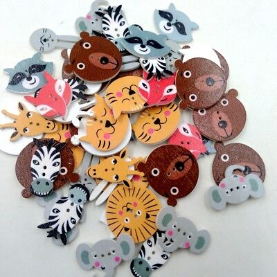 £3.37 • Buy 50pcs Colorful Animals 2 Holes Buttons Flatback For Scrapbooking DIY Crafts