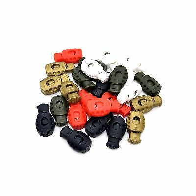 Single Hole Cord Stopper Lock Toggle Laces Stop End ⋆ Grenade Shape ⋆ 5 Colours • 1.26£