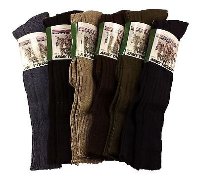 3 Pairs Of Men's Army Socks, Long Knee High Thermal Military Socks, Size 6-11 • 9.95£