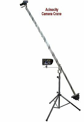 Camera Crane, Jib Arm 3 Meter Long + Camera Crane Stand,  3 Camera Mounting Head • 249£
