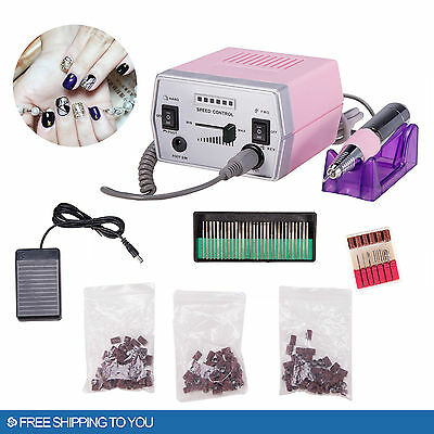 View Details PROFESSIONAL ELECTRIC NAIL FILE DRILL Manicure Tool Pedicure Machine Set Kit • 32.95$