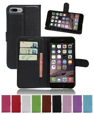 AU5.89 • Buy Wallet Leather Flip Case Pouch Cover For Apple IPhone 7 Plus Genuine AuSeller