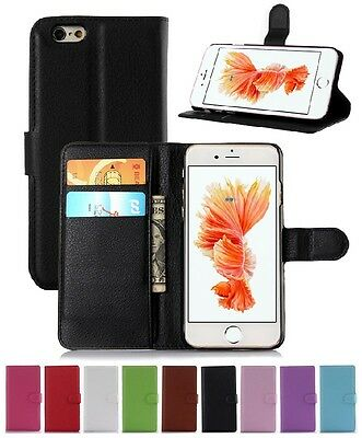 AU5.89 • Buy Wallet Leather Flip Case Pouch Cover For Apple IPhone 6 6S Genuine AuSeller