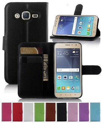 AU7.89 • Buy Wallet Leather Flip Case Pouch Cover For Samsung Galaxy J3 2016 Genuine AuSeller