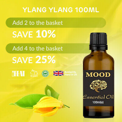 Essential Oil Oils Pure Aromatherapy Natural Ylang Ylang 100ml Fragrance Organic • 10.99£