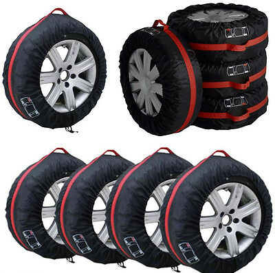 $29.10 • Buy 4Pcs 16 -22  Car Spare Tyre Tire Protection Cover Carry Tote Handle Storage Bags