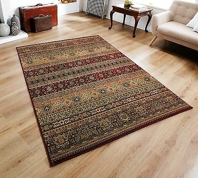 £38.40 • Buy Quality Dark Red Beige Tribal Traditional Design Durable Area Rugs Hall Runner