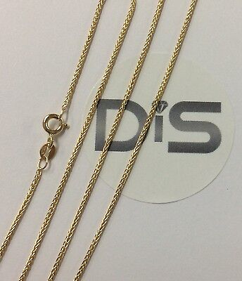 £64.90 • Buy 375 9ct Yellow Gold Spiga Necklace, 16  18  20