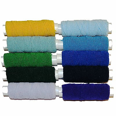 £2.25 • Buy One 20m Roll Of Shirring Elastic From A Range Of Blue, Green And Yellow Shades