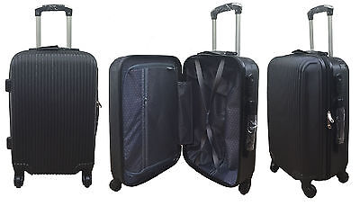 20  24  28  Hard Shell Suitcase Set 4 Wheel Luggage Spinner Lightweight - BLACK • 29.95£