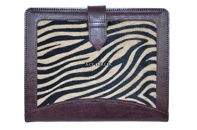 $35.41 • Buy New Cover Case Stand IPAD 2 3 & 4 Brown Zebra Print Luxury Real Genuine Leather