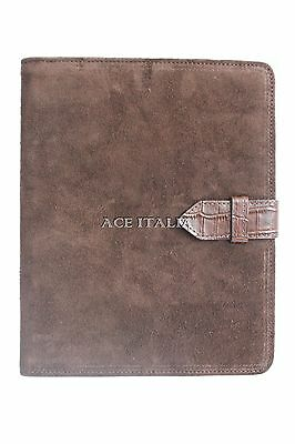 $35.41 • Buy New Cover Case Stand IPAD 2 3 & 4 Brown Suede & Croc Print Real Genuine Leather