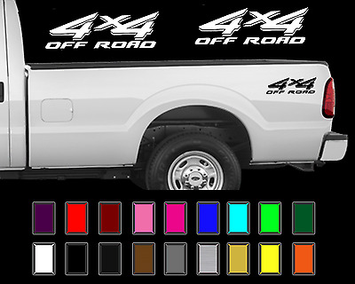 $13.75 • Buy 4x4 Off Road Truck Bed Decal Set Ford Super Duty F250 Vinyl Stickers