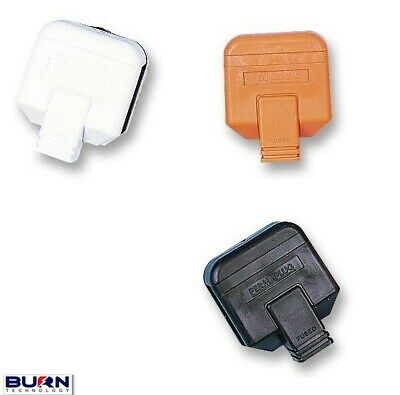 Rubberised Industrial Heavy Duty Mains Electrical Plug - 13A Fuse 3 Pin  • 3.46£