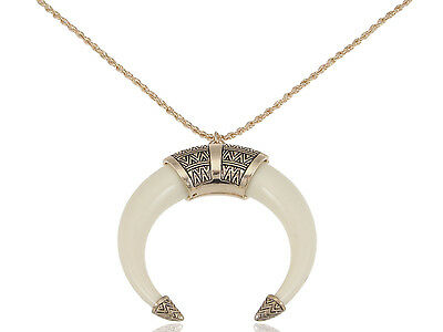 £8.31 • Buy Vintage Bohemian Indie Crescent Moon Tribal Large Statement Pendant Necklace Hot