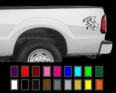 $13.37 • Buy 4x4 Truck Bed Decal Set Ford Super Duty F250 F150 Vinyl Stickers
