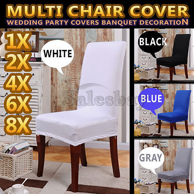 AU17.99 • Buy Seat Covers Stretchy Kitchen Dining Chair Cover Restaurant Wedding Part Decor
